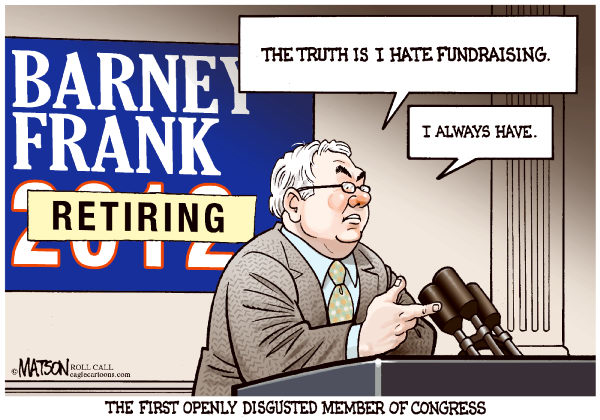Barney Frank Announces Retirement-COLOR © RJ Matson,Roll Call,Barney Frank Announces Retirement, Barney Frank, Congress, House of Representatives, Fundraising, Openly Disgusted