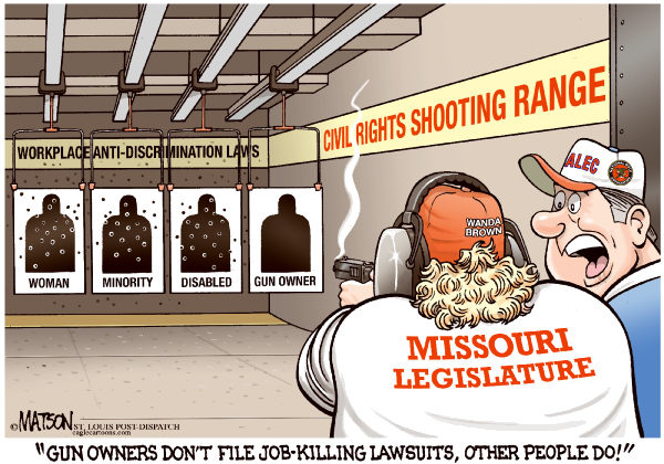 109836 600 Local MO Anti Discrimination Law For Gun Owners cartoons