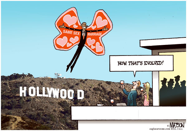 111469 600 Evolved Obama Appeals To Hollywood Campaign Donors cartoons