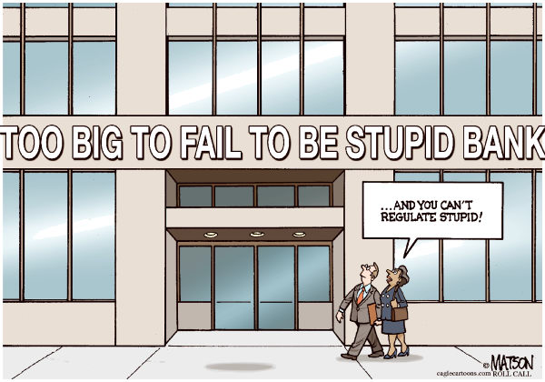 RJ Matson - Roll Call - Too Big To Fail To Be Stupid Bank-COLOR - English - Too Big To Fail To Be Stupid Bank, Too Big To Fail, Banks, Banking, Regulation, Wall Street, Government