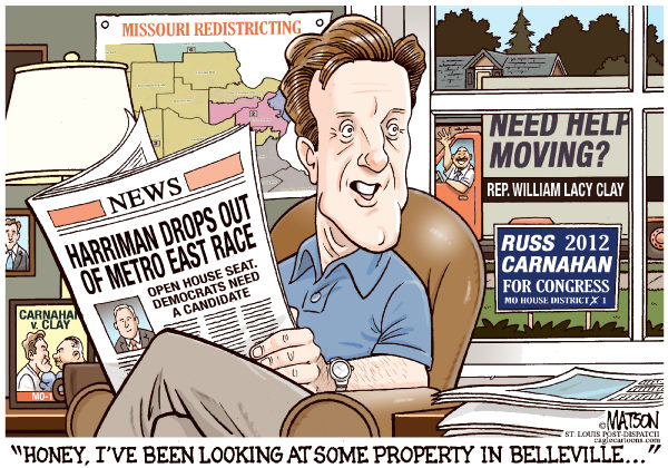 112868 600 Congressman Russ Carnahan Looking for Open House Seat cartoons