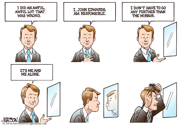 112870 600 John Edwards Looks At The Man In The Mirror cartoons