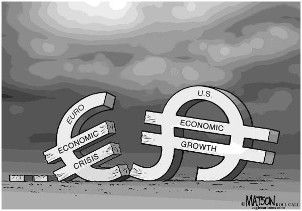 RJ Matson - Roll Call - Euro Crisis Threatens US Economic Growth - English - Euro Crisis Threatens US Economic Growth, Euro, Dollar, Europe, Debt Crisis, Austerity, Recession, US, Economy