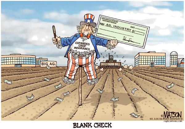113424 600 2012 Farm Bill Crop Insurance Blank Check cartoons