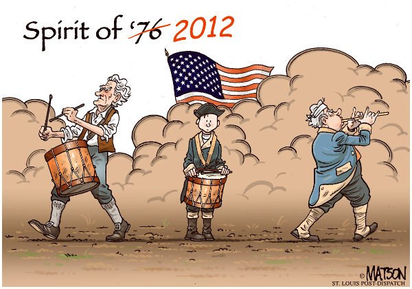 RJ Matson - The St. Louis Post Dispatch - Spirit of 2012-COLOR - English - Spirit of 2012, Spirit of '76, July 4, Fourht of July, Independence Day