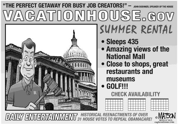 114976 600 Vacation House of Representatives cartoons