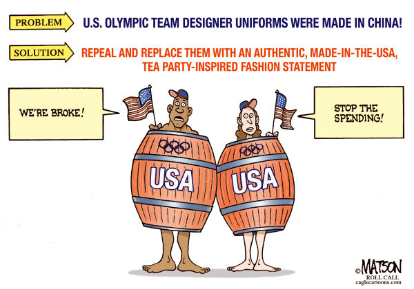RJ Matson - Roll Call - Made In USA Olympic Uniforms-COLOR - English - Made In USA Olympic Uniforms, Olympics, USA, US Olympic Team Uniforms, Tea Party, Made In China
