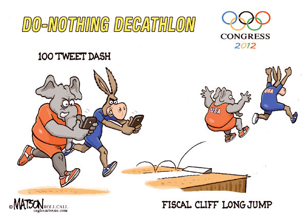 116198 600 The Do Nothing Congress Olympics cartoons