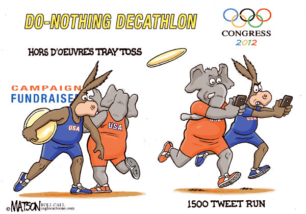 RJ Matson - Roll Call - Do-Nothing Congress Olympics Part IV - English - Do-Nothing Congress Olympics Part III, Congress, 2012 Elections, Democrats, Republicans