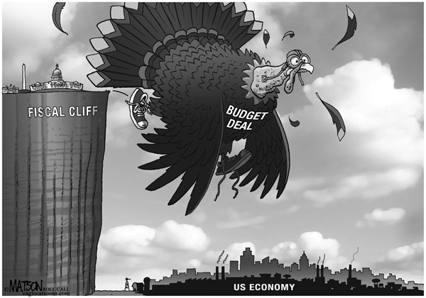 RJ Matson - Roll Call - Big Bird - English - Big Bird,Fiscal Cliff,Taxes,Tax Cuts,Revenue,Spending,US Economy,Budget deal,Economic Stimulus,Recession,Congress,White House,President
