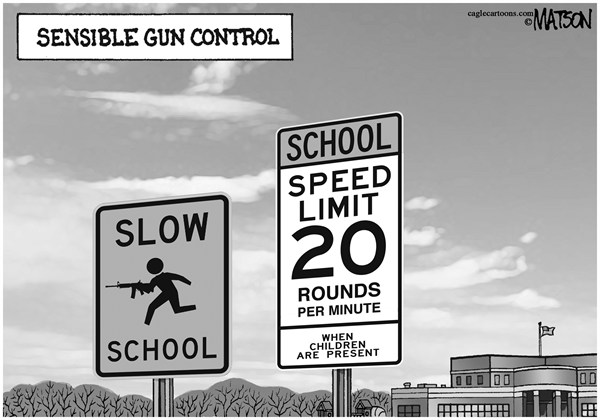 RJ Matson -  - Sensible Gun Control - English - Sensible Gun Control, Guns, Children, Schools, School Shootings, Assault Weapons, RPM, Rounds Per Minute, Speed Limit