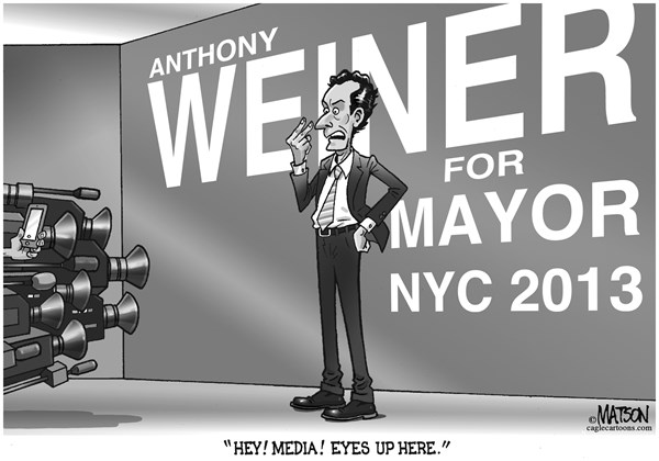 RJ Matson -  - Anthony Weiner Announces Candidacy for NYC Mayor - English - Anthony Weiner Announces Candidacy for NYC Mayor, Anthony Weiner, New York City, Mayor, Media
