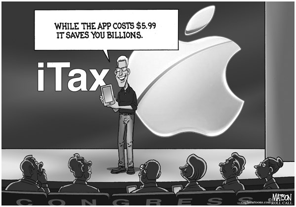 RJ Matson - Roll Call - Apple iTax Wows Congress - English - Apple iTax Wows Congress, Apple, iTax, Congress, Taxes, Tax Avoidance, Offshore tax havens