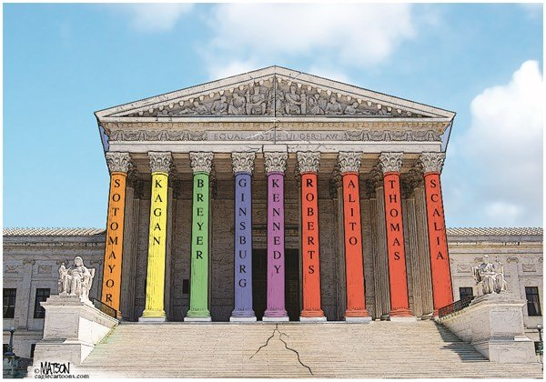 Supreme Pride © RJ Matson,,Supreme Pride, Supreme Court, DOMA, Gay Marriage, Gay Pride, Defense of Marriage Act, Equal Justice Under the Law