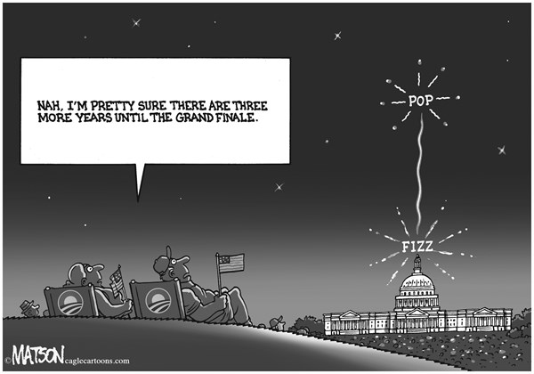 RJ Matson -  - Obama Promise Fizzles - English - Obama Promise Fizzles, President Obama, Grand Finale, Washington, Congress, White House, Broken Government, Grand Bargain, Independence Day, July 4