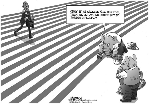 RJ Matson - Roll Call - Republicans Draw Red Lines - English - Republicans Draw Red Lines, Republican Party, Congress, House of Representatives, President Obama, Government, Shutdown, Affordable Health Care Act, Obamacare, Debt Ceiling