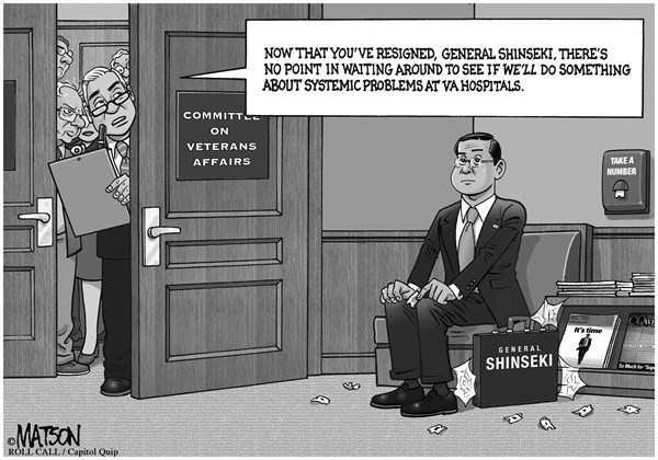 RJ Matson - Roll Call - General Shinseki Sits in Veterans Affairs Committee Waiting Room - English - General Shinseki Sits in Veterans Affairs Committee Waiting Room, Congress, Veterans, General Shinseki, VA Hospitals, Delays, Systemic Problems, Wait, Waiting Room