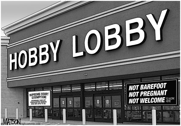 RJ Matson -  - Hobby Lobby Affordable Care Act Exemption - English - Hobby Lobby Affordable Care Act Exemption, Supreme Court, Hobby Lobby, Obamacare, Affordable Care Act, Religious, Exemption,Contraception, Contraceptives,Mandate, Health, Insurance, Women, Woman, Employees