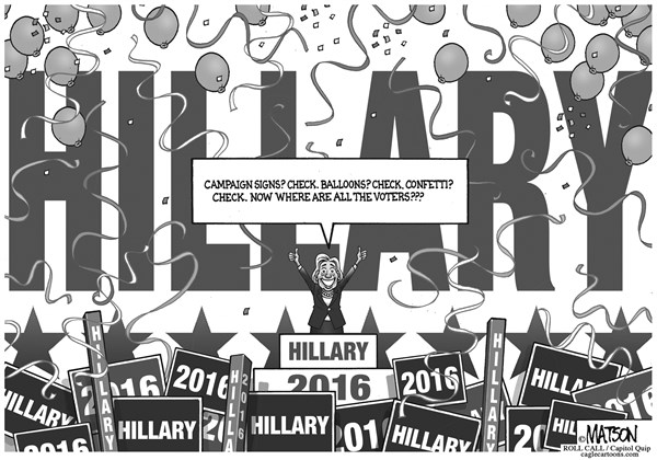 Hillary is Ready for Hillary © RJ Matson,Roll Call,Hillary is Ready for Hillary, Hillary Clinton, 2016, President, Presidential, Election, Democrat, Democratic, Primary, Nomination, Voters