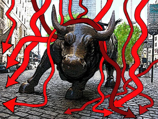 96527 600 Wall Street Bull cartoons