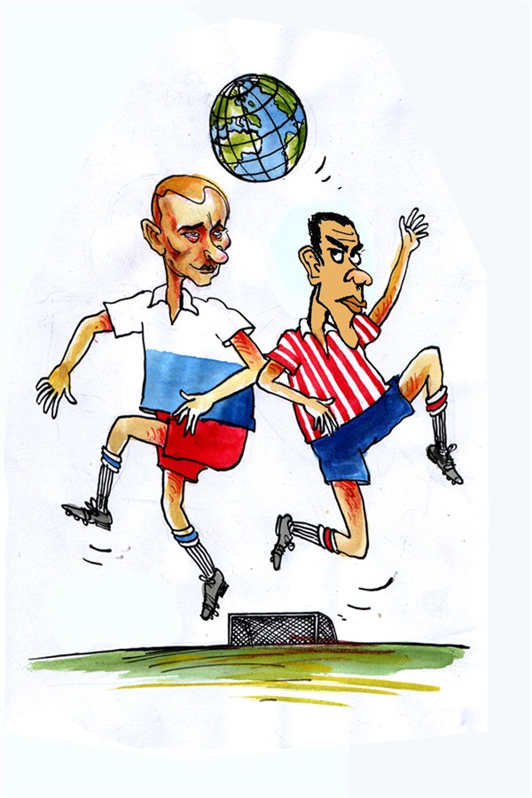 137467 600 World View of Obama and Putin cartoons