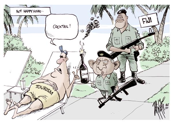 Paul Zanetti - Australia - Fiji Coup colour - English - Fiji coup tourism military army Bainimarama Pacific