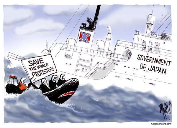 104486 600 Save the Whale Protesters cartoons