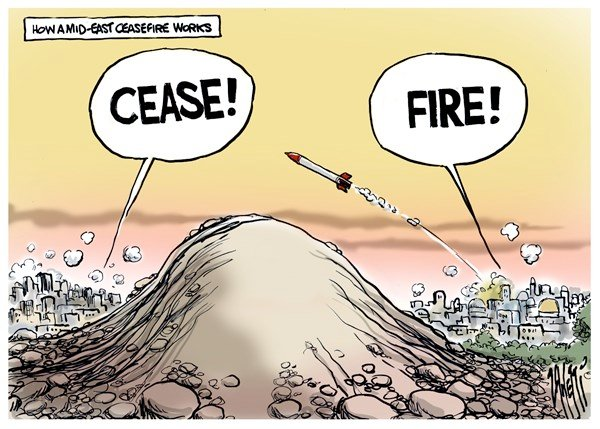 Paul Zanetti - Australia - Ceasefire  - English - Israel, Palestine, Hamas, Middle-East, rockets, Ceasefire Cease, Fire, Palestinean