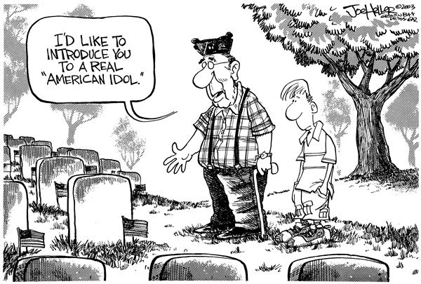 Joe Heller - Green Bay Press-Gazette - Memorial Day - English - memorial day american idol vets heroes world war war veterans soldier
