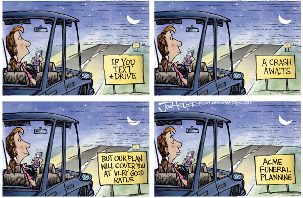 67335 600 Driving and Texting cartoons
