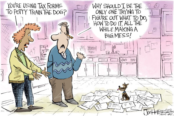 105474 600 Tax Papers cartoons