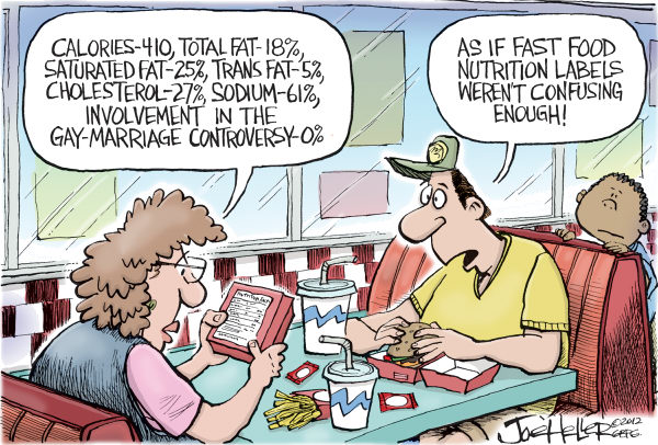Joe Heller - Green Bay Press-Gazette - Chick-Fil-A - English - Chick-Fil-A, gay marriage, fast food, CEO