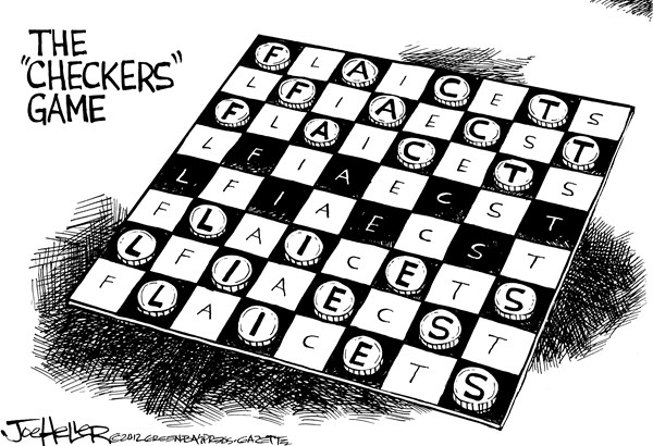 Joe Heller - Green Bay Press-Gazette - Fact Checkers - English - Fact Checkers, lies, facts, negative ads, super pacs, distortion