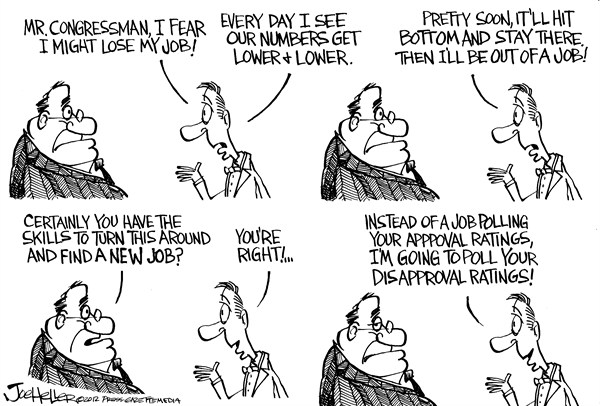 Joe Heller - Green Bay Press-Gazette - Congress Approval Rating - English - Congress Approval Rating, jobs