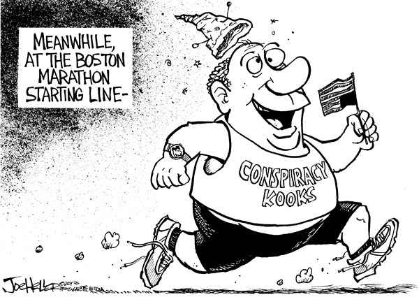 Joe Heller - Green Bay Press-Gazette - Conspiracy - English - Conspiracy, Boston Marathon, bombing