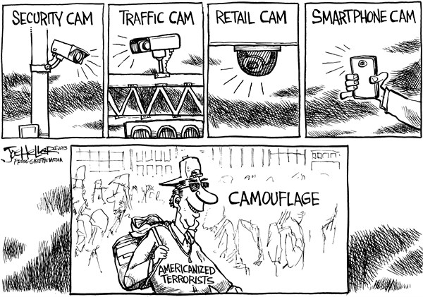 Joe Heller - Green Bay Press-Gazette - Cams - English - cams, cameras, security, traffic, retail, smartphones, videos, Boston bombing, Americanized terrorists, home grown