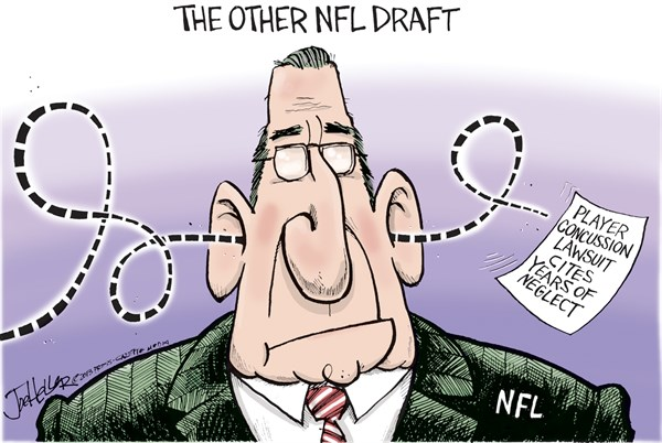 Joe Heller - Green Bay Press-Gazette - NFL Draft - English - NFL draft, national football league, player, lawsuit, concussions, head injury, brain damage, sports