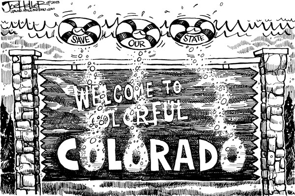 Joe Heller - Green Bay Press-Gazette - Colorado floods - English - Colorado Floods