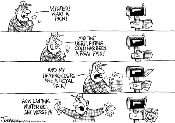 Joe Heller - Green Bay Press-Gazette - Propane - English - propane, energy, winter, cold, heating bill