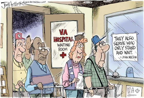 Joe Heller - Green Bay Press-Gazette - VA - English - Va, vétérans administration, hospital, waiting times, delays, vets, military