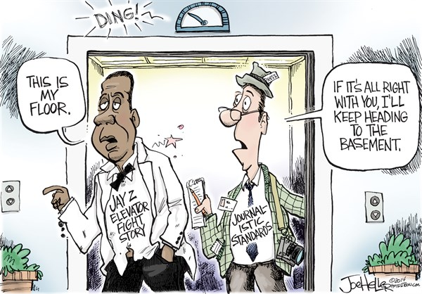 Joe Heller - Green Bay Press-Gazette - Jay Z - English - Jay Z, journalism, solange, elevator, beyonce, rap, cable news
