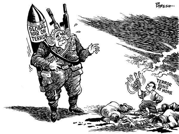 Paresh Nath - The National Herald, India - Terror guns at home - English - global war on terror, terror guns, Virginia shooting, gun lobby, gun laws