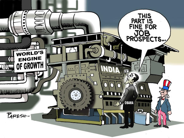 85411 600 Obama and jobs in India cartoons