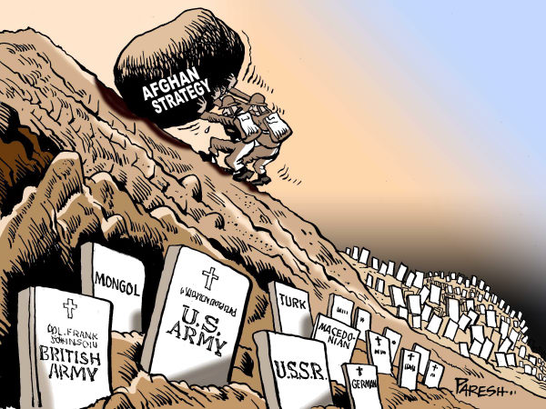Paresh Nath - The Khaleej Times, UAE - Afghan graveyard COLOR - English - Afghanistan, war,strategy,Sisyphus,USA army, British army,Macedonians, Mongols, USSR, German, graveyard,cemetary