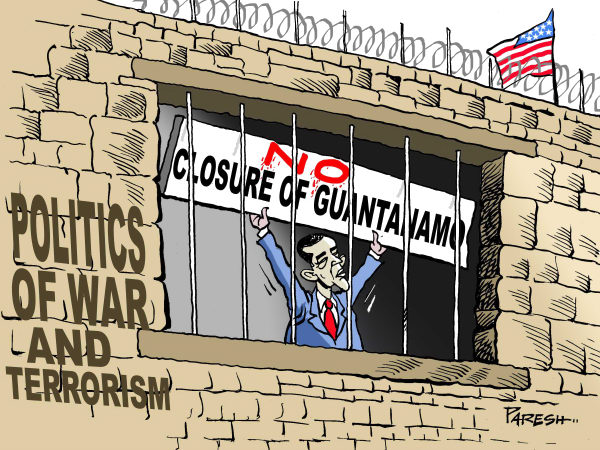 88732 600 Not closing Guantanamo cartoons