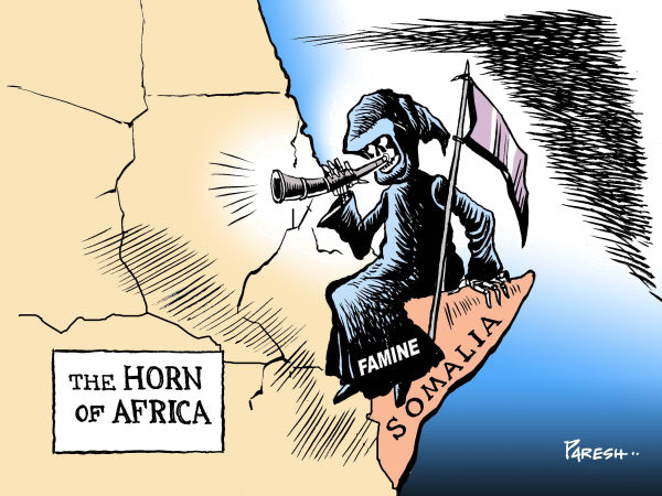 The Horn of Africa COLOR © Paresh Nath,The Khaleej Times, UAE,Africa, Horn, Somalia,famine,drought,civil war,disaster,death,warning
