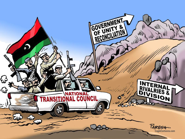 97499 600 Roads for Libya cartoons