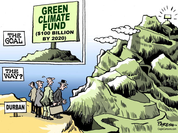 Green climate fund © Paresh Nath,The Khaleej Times, UAE,Green, environment,climate change, global warming,Durban summit,climate fund,2020,distance, hills,mountain,way