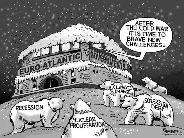 Paresh Nath - The Khaleej Times, UAE - Euro-Atlantic issues - English - Euro, Atlantic governments,snow,coldwar,bears,issues,recession,