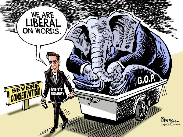Paresh Nath - The Khaleej Times, UAE - GOP and conservatism - English - Republican party, GOP, Mitt Romney,USA election 2012,liberal on words,severe conservatism